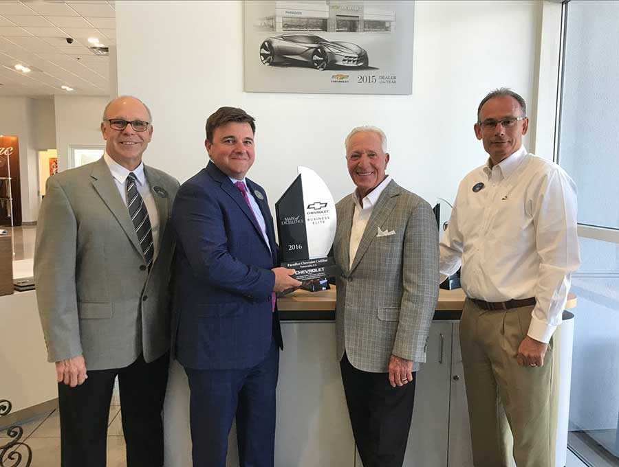 Paradise Chevrolet Cadillac Named One Of The General Motors Top Performers The Valley Business Journal