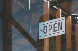 business with open sign