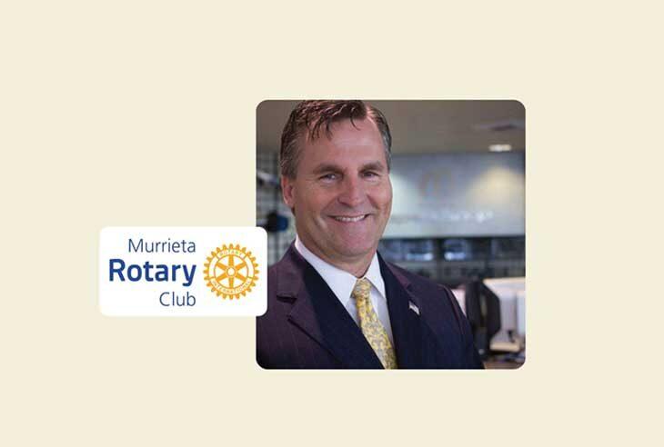 Headshot and Murrieta Rotary logo