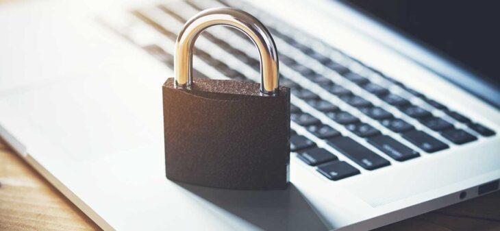 Laptop with lock